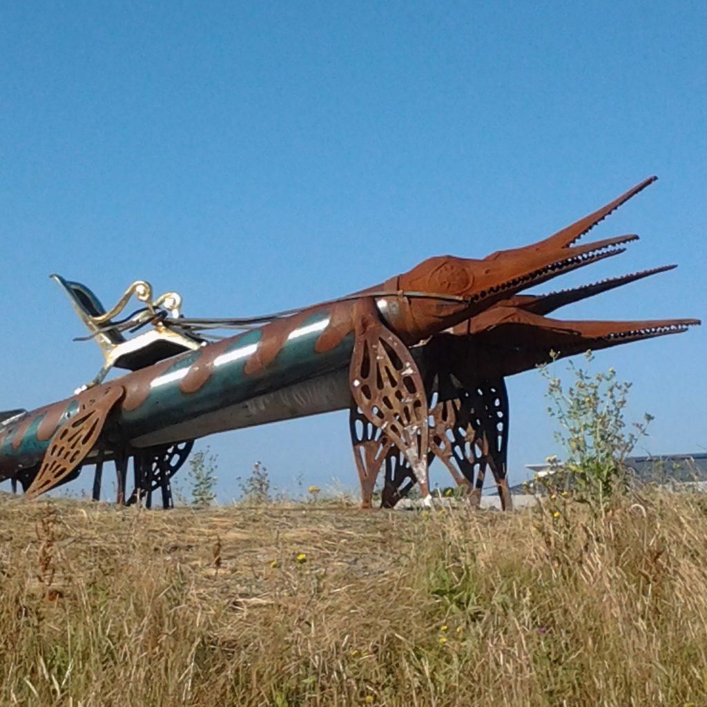 Weymouth Gateway Sculpture Trail: Torpedosaur