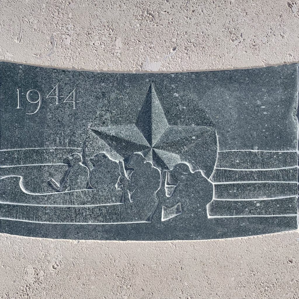 D-Day - Operation Neptune - Carved Slate Panel Benches