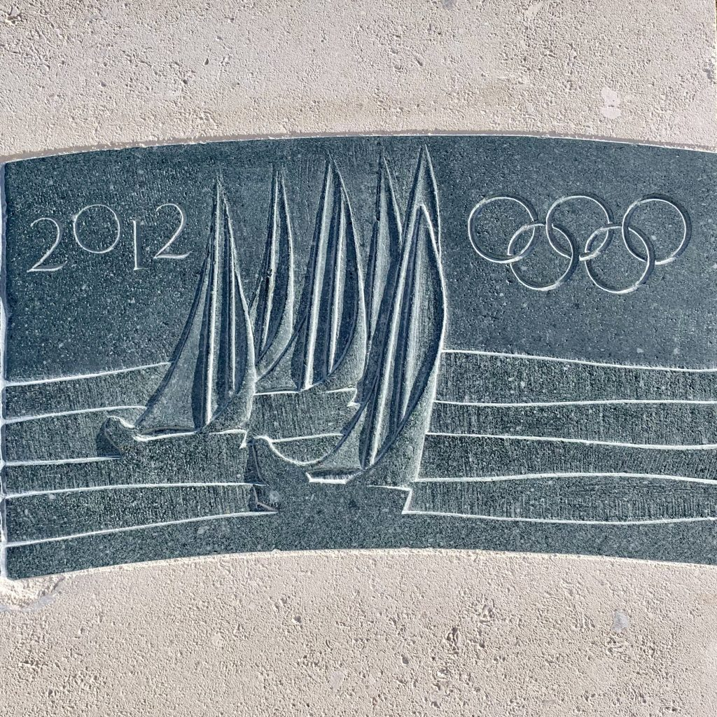 The London Olympics - Sailing Events - Carve Slate Stone Benches